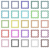 Colorful frames set Stock Images