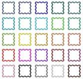 Colorful frames set. Set of colorful regular design frames Stock Images
