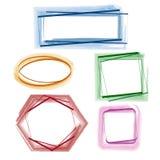 Colorful frames set. Set of hand drawn frames. Set of vector design elements Stock Photography