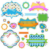 Colorful frames. Set of colorful frames for kids Royalty Free Stock Photography