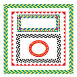 Colorful frames set Royalty Free Stock Images