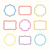 Colorful frames. Vector illustration. Royalty Free Stock Photo