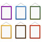 Colorful frames on white background. Vector illustration.  Stock Photo