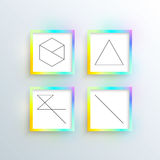 Colorful frames. For your content - vector, eps10 Stock Photography