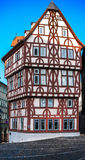 Colorful framework house in Aschaffenburg, Bavaria, Germany Stock Photo