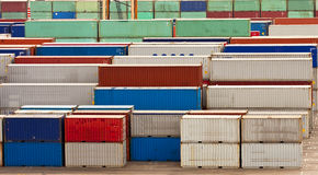 Colorful Freight Containers Stock Photography