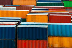 Colorful freight containers Stock Photos