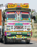 Colorful Freight Truck in India, Travel to Asia Stock Photography