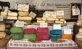 Colorful french cheese at the market in Arles Royalty Free Stock Photo