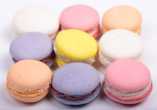 Colorful french macaron cookies Royalty Free Stock Photography