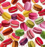 Colorful french macaron cookies collection Stock Images