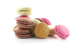 Colorful French Macarons stock video footage