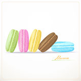 Colorful French Macarons Stock Image