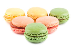 Colorful french macaroons Royalty Free Stock Images