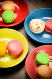 Colorful French macaroons Royalty Free Stock Photos