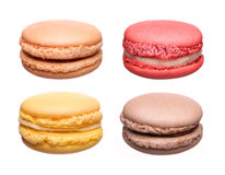 Colorful French Macaroons Collection isolated Royalty Free Stock Photography