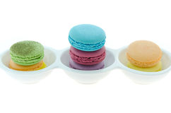 Colorful of French macaroons Royalty Free Stock Photography
