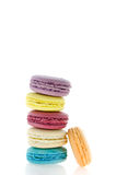 Colorful  french macaroons  stack Stock Photos