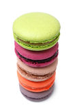 Colorful french macaroons Stock Images