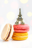 Colorful French pastry on a white background. Stock Photography