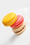 Colorful French pastry on a white background. Royalty Free Stock Images