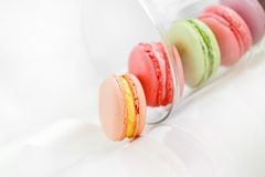 Colorful French pastry on a white background. Royalty Free Stock Image