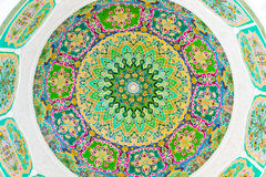 Colorful fresco. Colorful circular fresco with floral design Royalty Free Stock Image