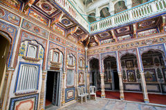 Free Colorful Frescoes Inside An Old Indian House Stock Photo - 55028620