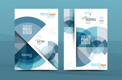 Colorful fresh business A4 cover template - flyer, brochure, book magazine and annual report Royalty Free Stock Photos