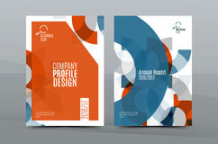 Colorful fresh business A4 cover template - flyer, brochure, book magazine and annual report Royalty Free Stock Photo
