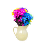 Colorful fresh flowers in a jug Royalty Free Stock Photo
