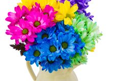 Colorful fresh flowers in a jug Stock Photo