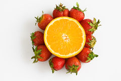Colorful fresh fruit arrangement Stock Photography