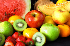 Colorful fresh fruit assortment Royalty Free Stock Photo