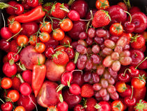 Colorful fresh fruits. Colorful fresh summer fruits and vegetables as a background royalty free stock photos