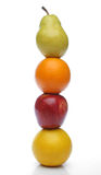 Colorful fresh fruits totem