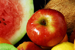 Colorful fresh group of fruits, apple Royalty Free Stock Image
