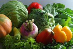 Colorful fresh group of vegetables royalty free stock photos