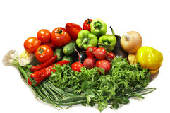 Colorful fresh group of vegetables Stock Photos