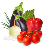 Colorful fresh group of vegetables. Photorealistic . Colorful fresh group of vegetables Stock Image