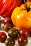 Colorful Fresh Heirloom Tomatoes Stock Image