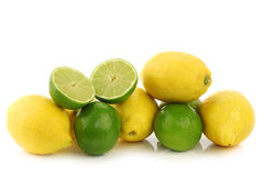 Colorful fresh lime and lemon fruit Stock Image