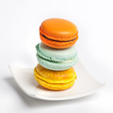 Colorful fresh makarons Cake on a plate Royalty Free Stock Photo