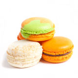Colorful fresh makarons Cake on white background Stock Photos