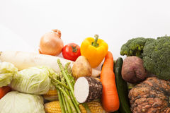 Colorful fresh mixed vegetables Royalty Free Stock Photos