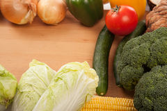 Colorful fresh mixed vegetables Stock Images