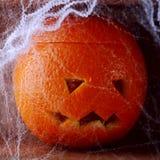 Colorful fresh orange Halloween lantern stock image