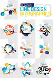 Colorful fresh sticker infographics Stock Photography