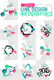 Colorful fresh sticker infographics Royalty Free Stock Photo
