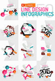 Colorful fresh sticker infographics Stock Photos